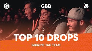 TOP 10 DROPS 😱 Grand Beatbox Battle Tag Team 2019