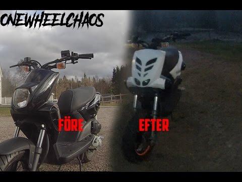 lacka moped kåpor