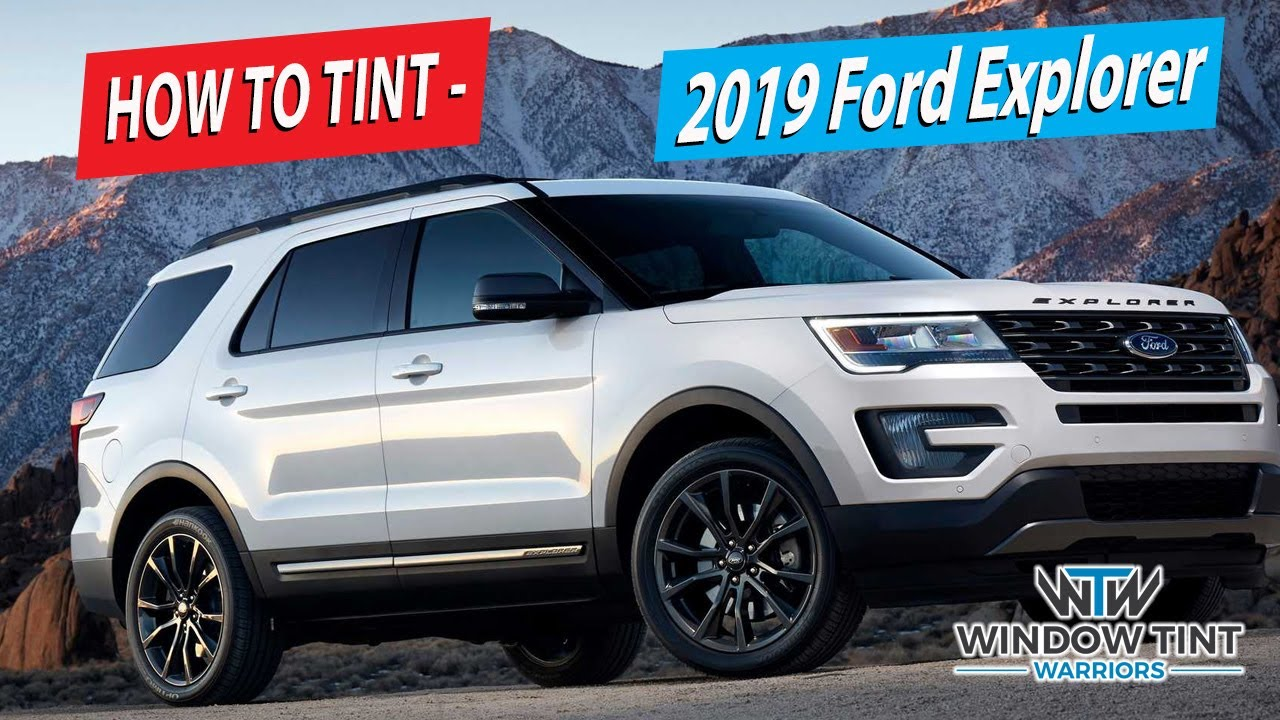 How To Tint Suv Front Doors 2019 Ford Explorer Youtube