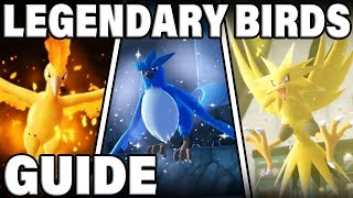How To Get ALL LEGENDARY BIRDS In Pokemon Let's Go Pikachu and Eevee!