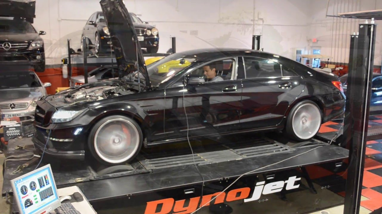 MIKE'S CLS63 AMG TURBO UPGRADE - DYNO & EXHAUST - JSBENZ STAGE 3