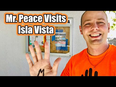 Mr. Peace Visits Isla Vista Elementary School in Goleta, California