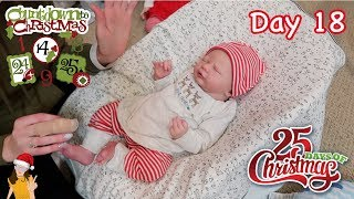 Reborn Countdown to Christmas! Changing Baby Holden - Day 18 | Kelli Maple