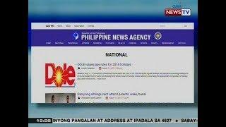 BT: Ilang pagkakamali ng PHL News Agency, iimbestigahan daw ng PCOO