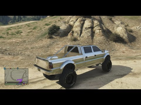 GTA 5 chrome truck hill climb and