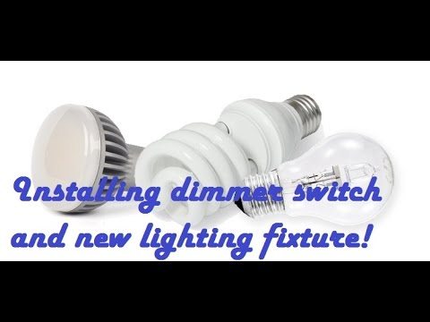 replacing a light fixture with a dimmer switch