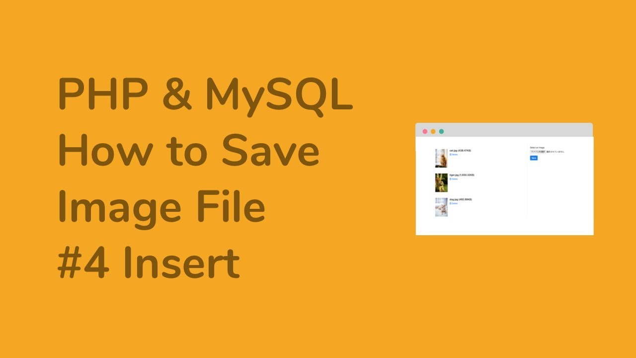【PHP & MySQL】How to Save Image File - #4 Insert an image file into MySQL database