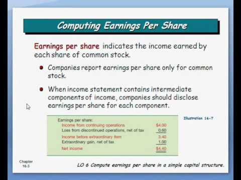 In calculating earning per share stock options warrants and rights are