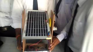 Sun tracking solar panal ... in hanswahini institute of science and technology. Me CM