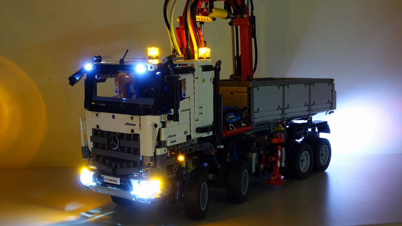 lego 42043 mercedes benz arocs 3245 led lights installed. Black Bedroom Furniture Sets. Home Design Ideas