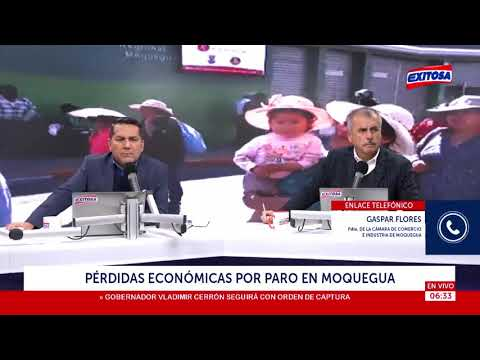 Pérdidas económicas por paro en Moquegua