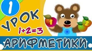 Вчимося рахувати яблука | Уроки арифметики для дітей
