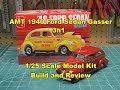 AMT 1940 Ford Sedan Gasser 3n1 1/25 Scale Model Kit Review Build AMT1088