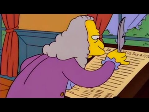 Homer Simpson - Here's what really happened at the signing of the Declaration of Independence...