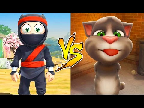 Talking Tom and Friends VS Clumsy Ninja / Cartoon Games Kids TV