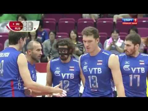 Волейбол Кубок мира 2015. Россия Иран 13.09.2015. Спорт 1.