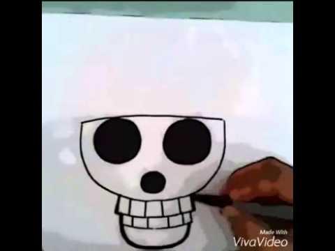 تعليم رسم جمجمة قبعة القش ون بيس Youtube