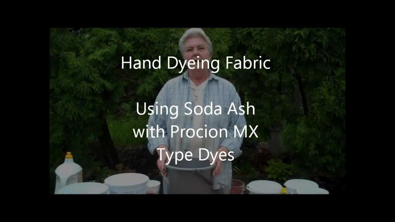 Why use soda ash with procion mx type dyes youtube nvjuhfo Images