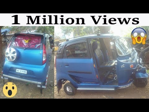 3 wheeled Auto Modified To Look Like A  Tata Nano doors - HD-VIDEO- CAR CARE TIPS