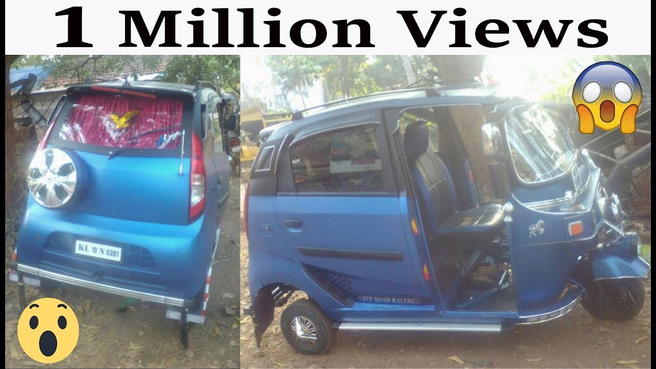 3 wheeled Auto Modified To Look Like A Tata Nano doors - HD-VIDEO ...