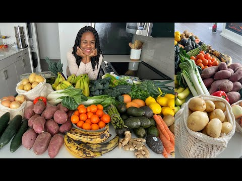 Our Family Weekly Food Haul + How to store Vegetables in Fridge [High Raw Vegan]