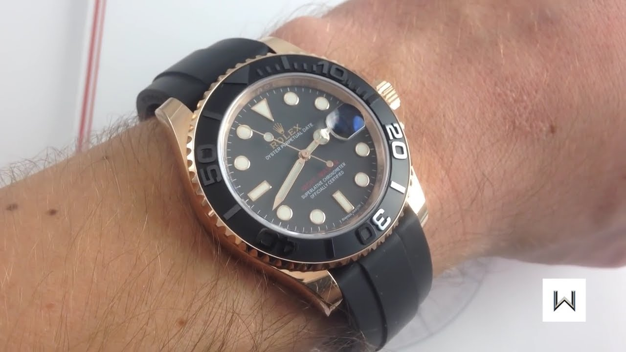 Rolex Oyster Perpetual Yacht Master 116655 Rose Gold