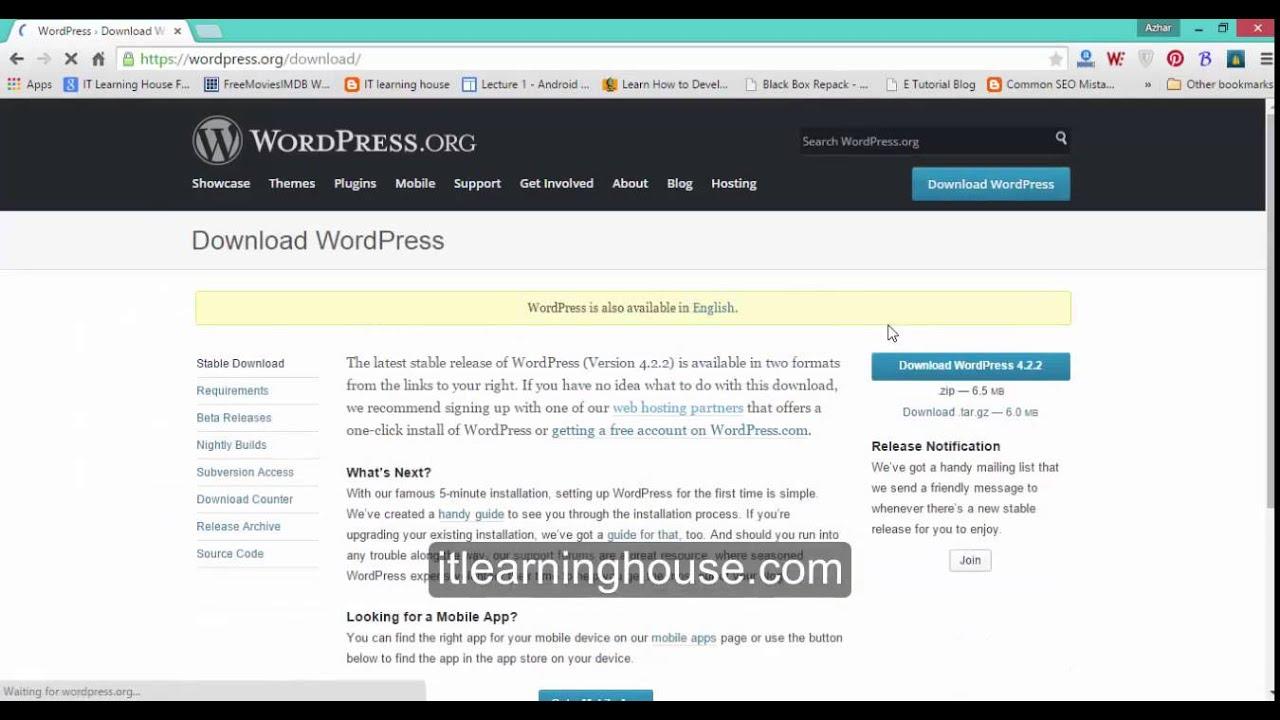 Install wordpress tutorial in Urdu & Hindi WordPress Tut