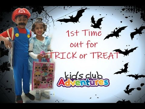 FIRST time Trick or Treat /Halloween Time with Kids club Adventures (KCA)