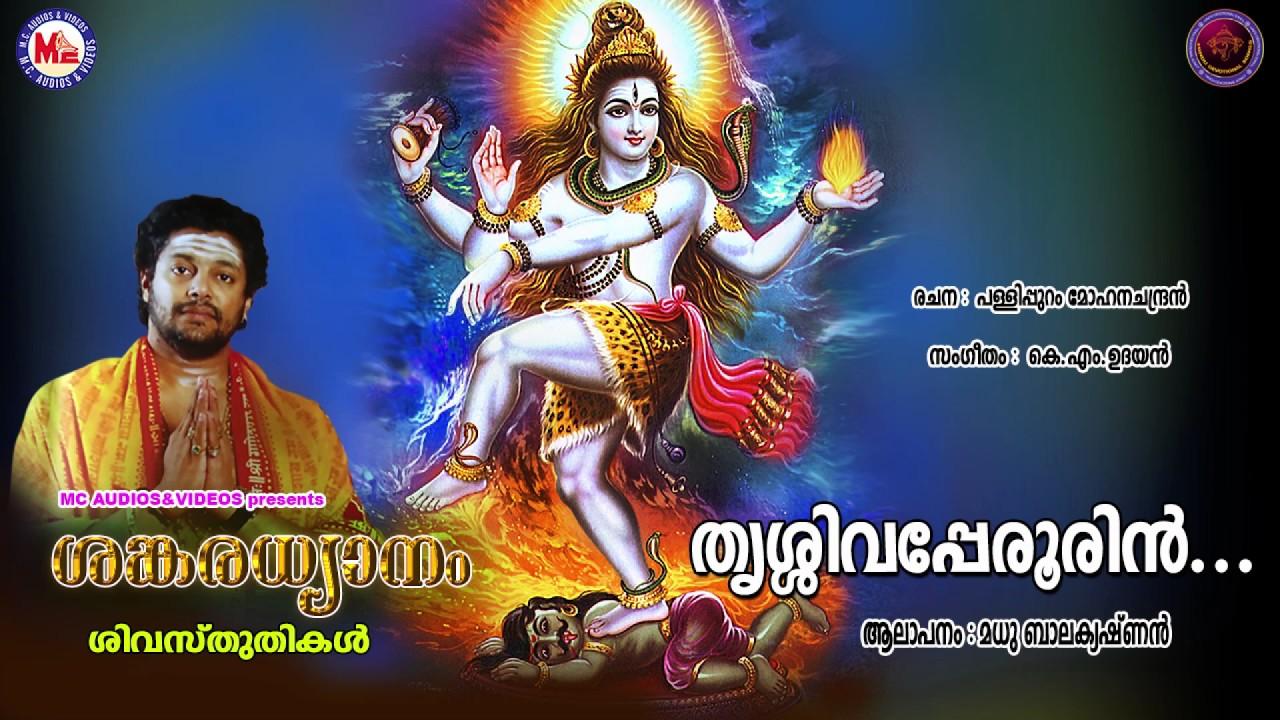 തൃശ്ശിവപേരൂരിൻ | SANKARADHYANAM | Hindu Devotional Siva Songs |  Madhubalakrishnan