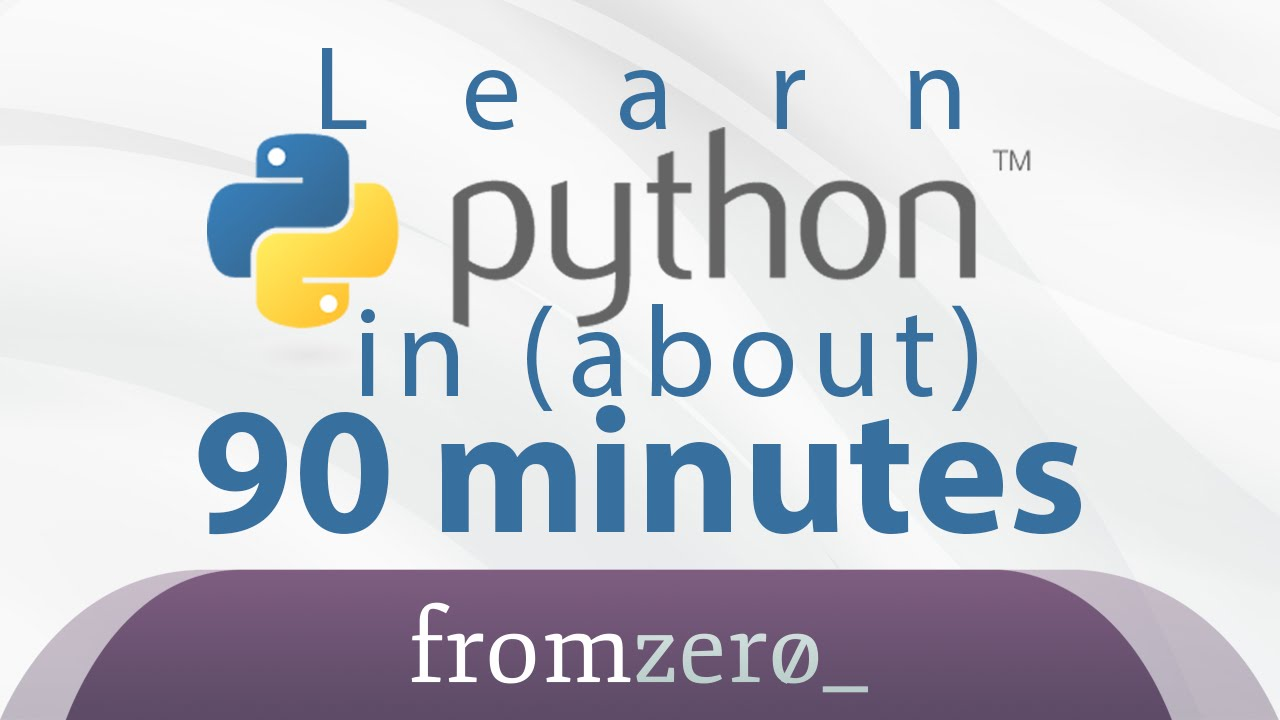 Learn Python in 90 Minutes