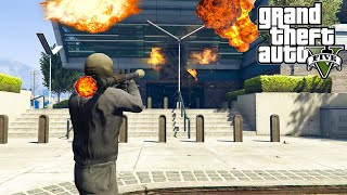What Happens If Y๐u BLOW UP The Police Station in GTA 5?