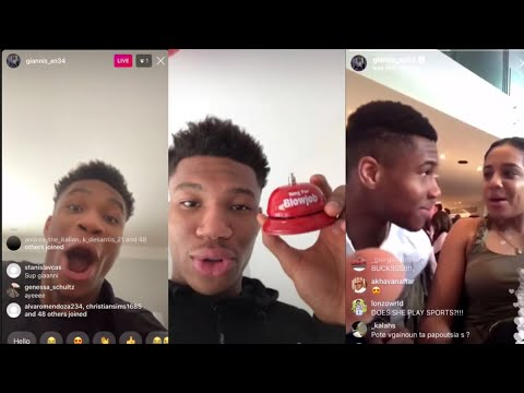 Giannis Antetokounmpo live videos are becoming a Valentine ...
