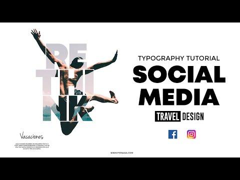 Photoshop Typography for Social Media Tutorial | Facebook & Instagram Stories