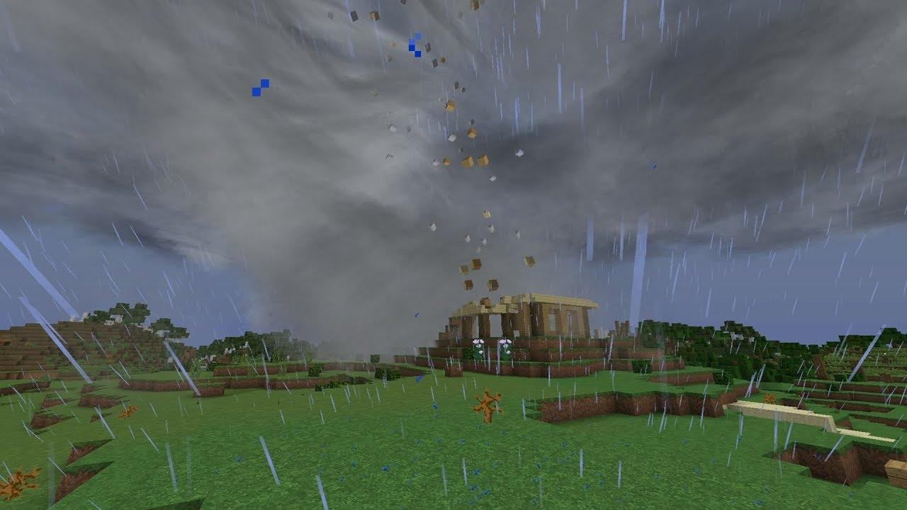майнкрафт гіганський торнадо видио #7