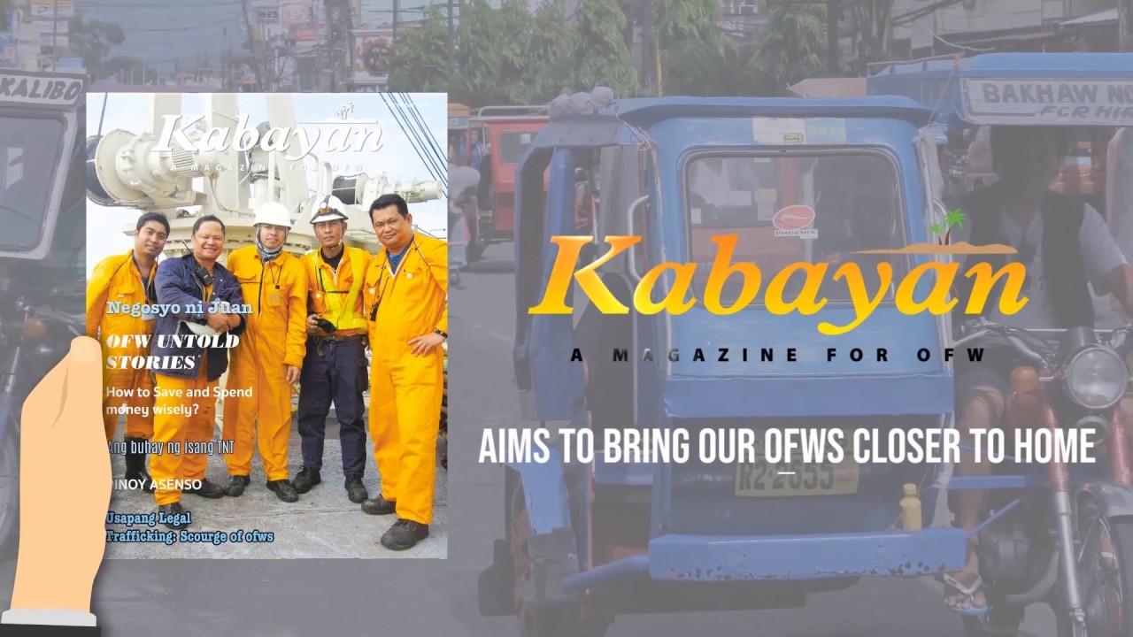 KABAYAN: A magazine for OFW