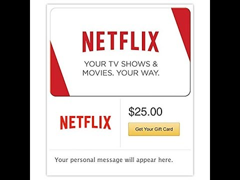 How to redeem a Netflix giftcard code - YouTube