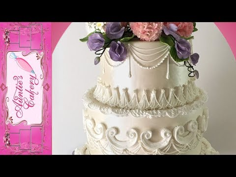 Spring Floral Wedding Cake Long tutorial- Lambeth style