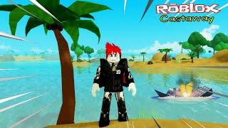 Roblox : Castaway เมื่อเรือฉันล่ม ฉันจึงต้องติดเกาะอยู่ที่นี่  (แม็พเสีย Robux)