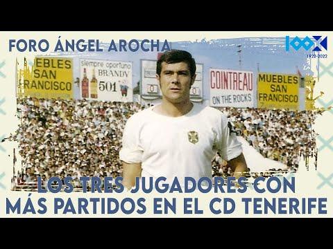 #CentenarioCDT | Foro Ángel Arocha: Los tres jugadores con más partidos en el CD Tenerife