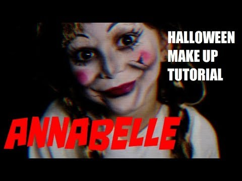 Trucco Annabelle Halloween.Creepy Doll Halloween Makeup Tutorial Annabelle The Conjuring Bloopers Pretty Flower