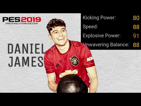 Daniel James 100% Cheap Scouts Combination Best White Ball LMF Potential  Youngster PES 2019 Mobile