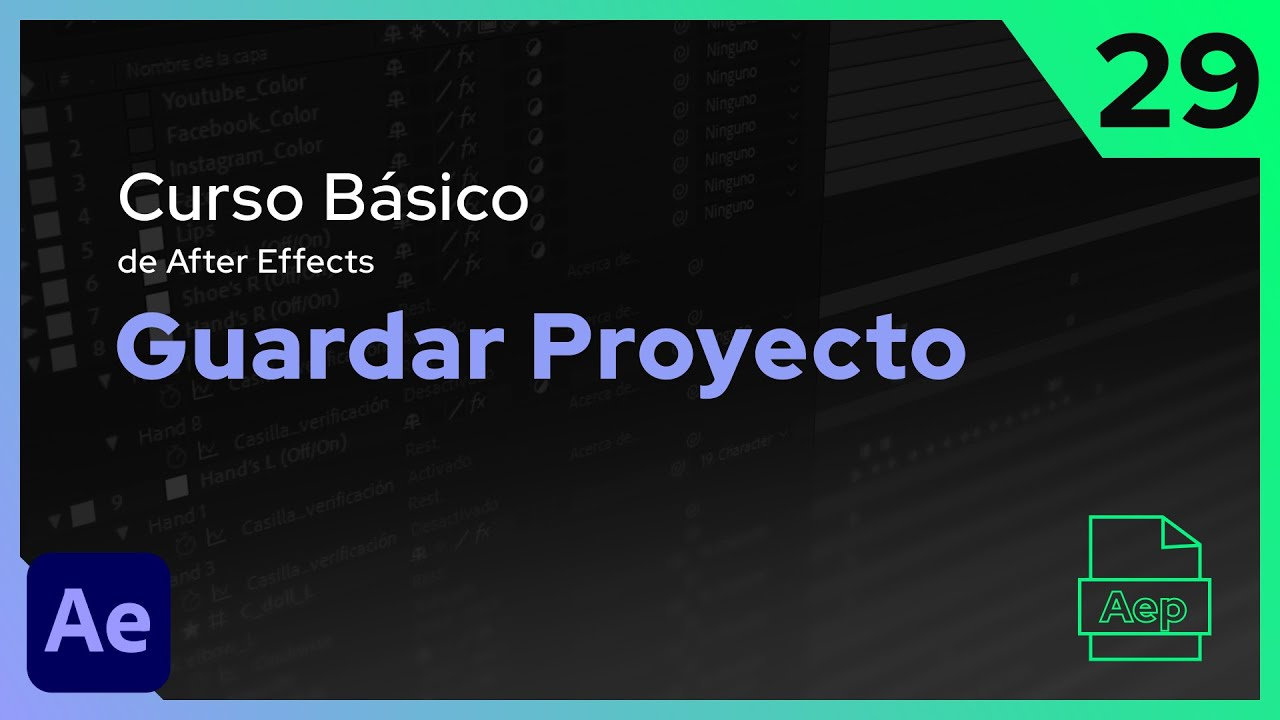 Guardar Proyecto | After Effects - Tutorial