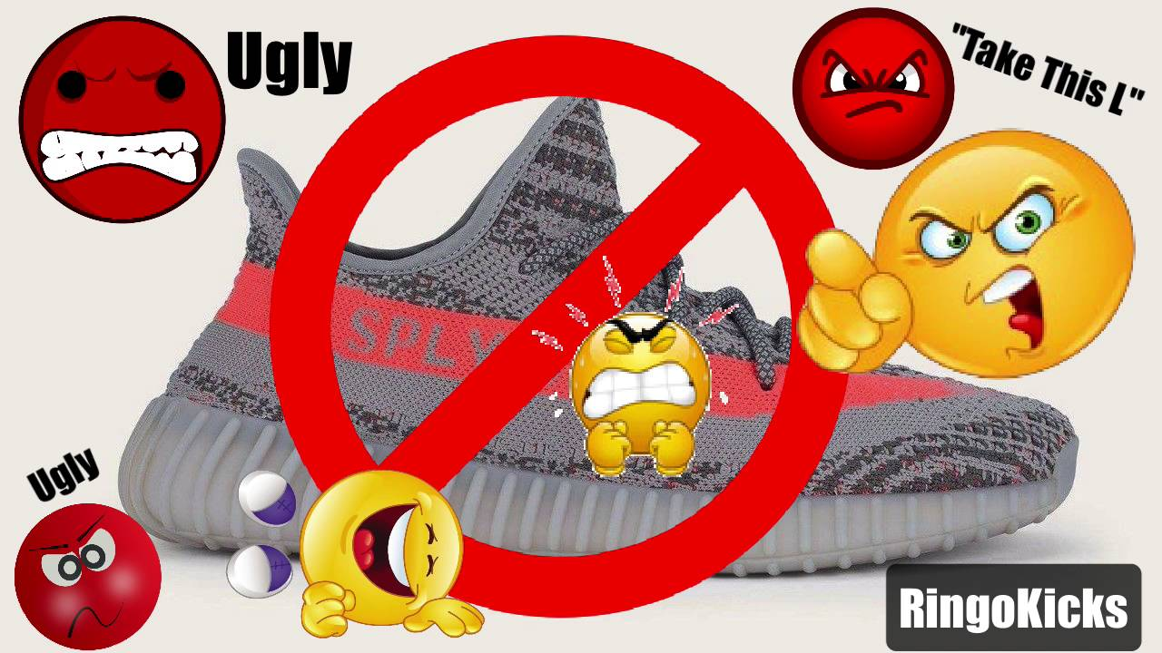 2288b21f9fca7 Adidas Yeezy Boost 350 V2 Beluga Solar Red is One Ugly Shoe - YouTube