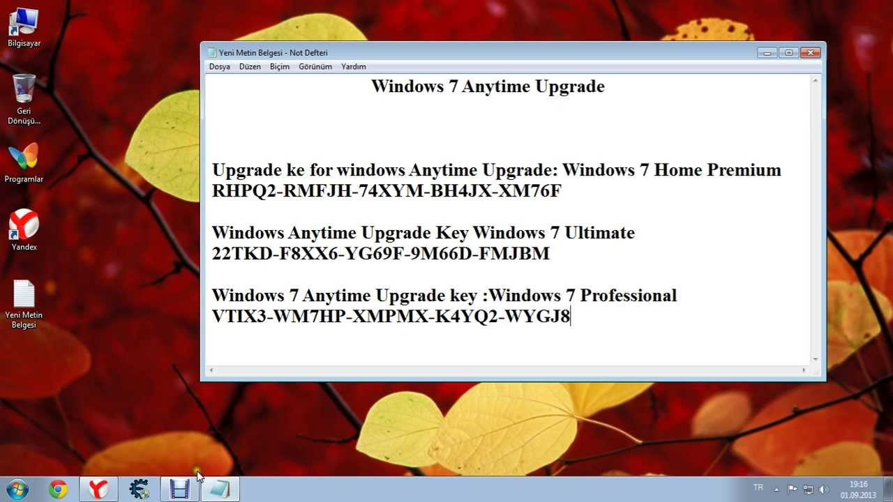 anytime upgrade windows 7 ultimate serial