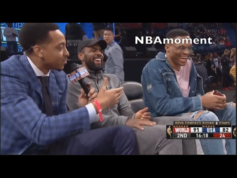 CJ McCollum funny interview with Westbrook and Kyrie Irving | MUST WATCH!!!