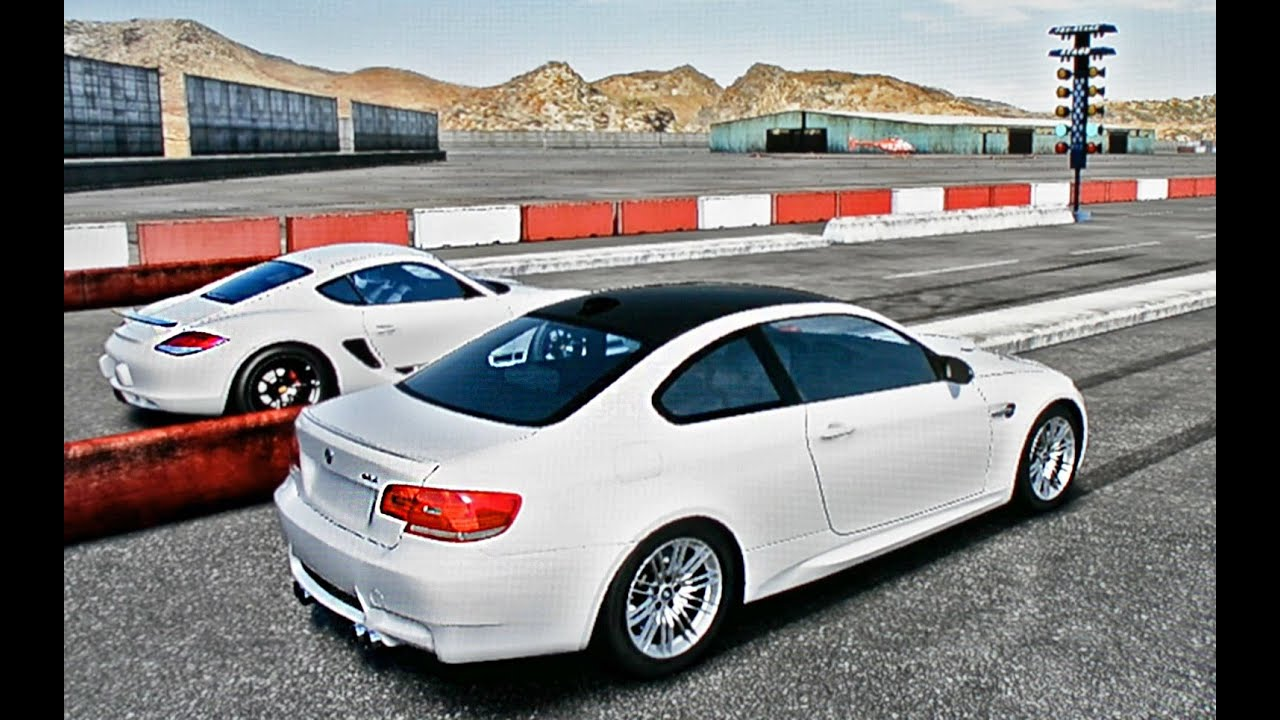 BMW M3 vs Porsche Cayman R DRAG RACE!!!! - YouTube