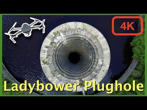 Ladybower Reservoir Plughole By Drone In 4k - DJI Mavic Pro