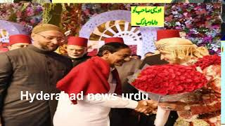 Akbar owaisi & kCR Attends Asad Owaisi's Daughter Marriage Function