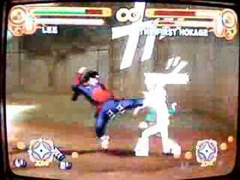 Naruto Ultimate Ninja 3 Rock Lee v.s Hashirama Senju