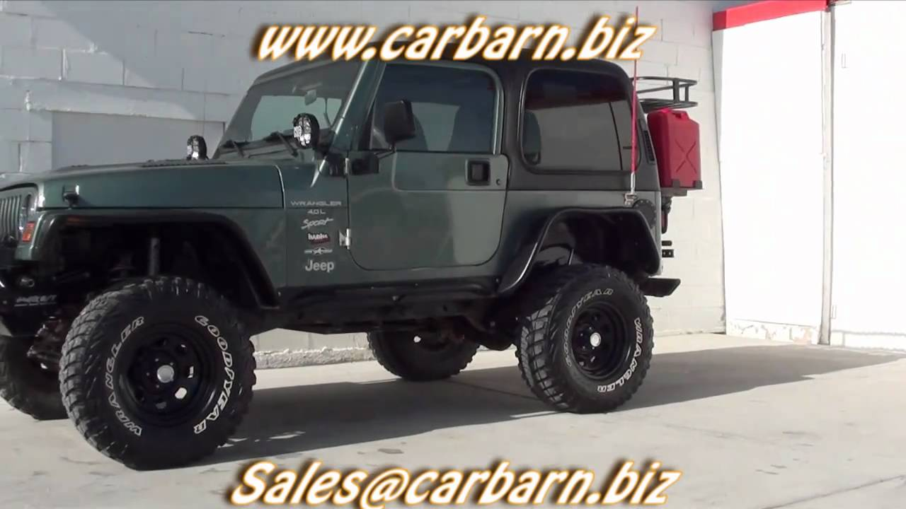 sold 1999 jeep wrangler sport 4x4 lifted winch hard top at car barn in fruita co youtube. Black Bedroom Furniture Sets. Home Design Ideas